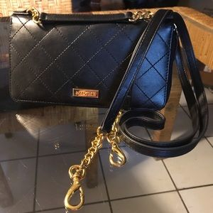 Miche Black Convertible Wallet with Gold Hardware